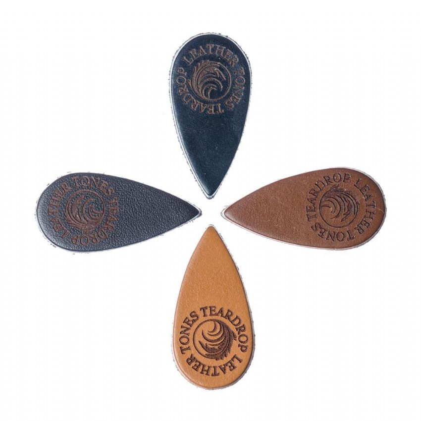 Leather Tones Teardrop - Pack of 4 Picks | Timber Tones